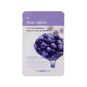 The Face Shop Real Nature Face Mask (Blueberry)